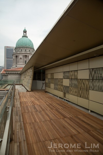 The City Hall Rooftop viewing deck on Level 6.