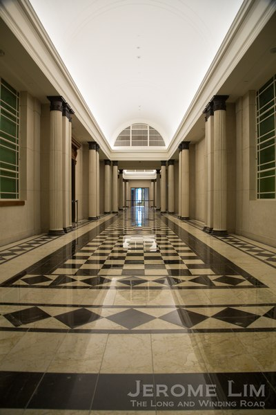 The re-tiled corridors of the Old Supreme Court.