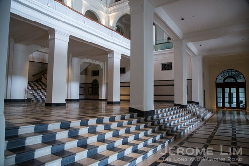 The beautifully restored Foyer of the Old Supreme Court.
