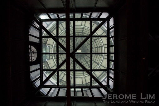 A look up to the underside of the main dome.