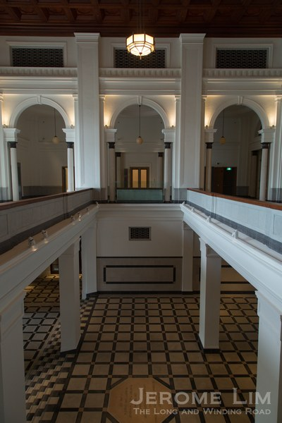 The restored historical lobby of the Old Supreme Court.
