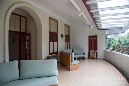 A balcony the private quarters open into.