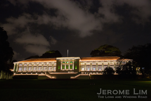 The new glow at the formerly very dark cemetery at Fort Canning.