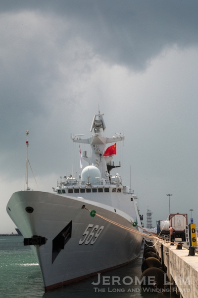 The People's Liberation Army Navy's Type 054-A Jiangkai II Class Stealth Frigate, CNS Yulin.