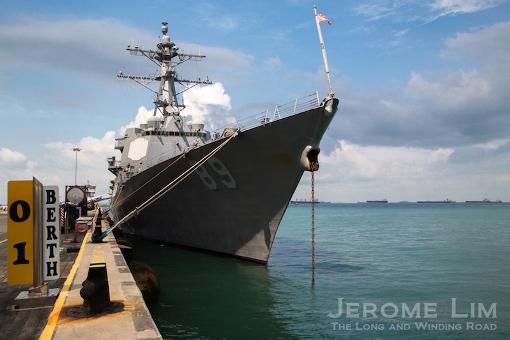 USS Mustin, an Arleigh Burke Class Destroyer.