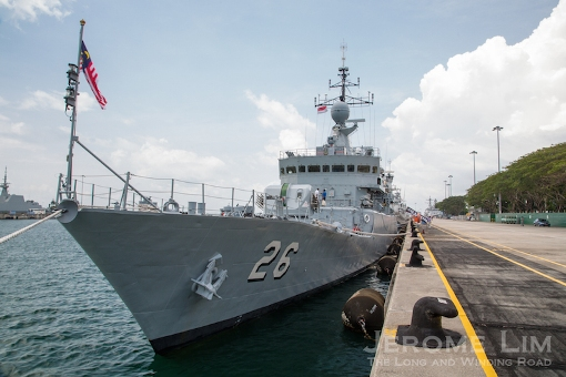 The KD Lekir, a TLDM (Royal Malaysian Navy) Kasturi Class Corvette.
