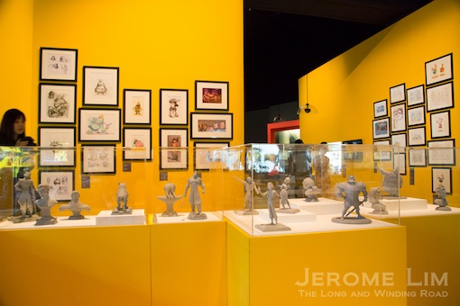 The Character Section with its display of marquettes and sketches that depict the evolution of some of the popular characters.