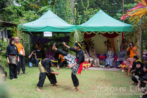 A silat performance at the 'Malay wedding'.