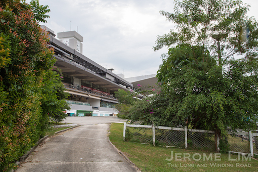 A track-side  view of the former South Grandstand.