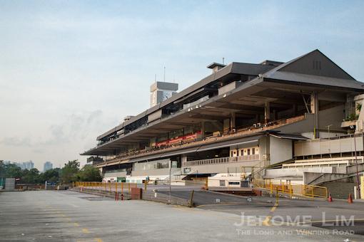 The original south grandstand.
