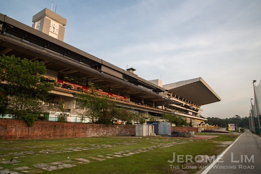 The old and new grandstands of the former Bukit Timah Race Course as seen today.