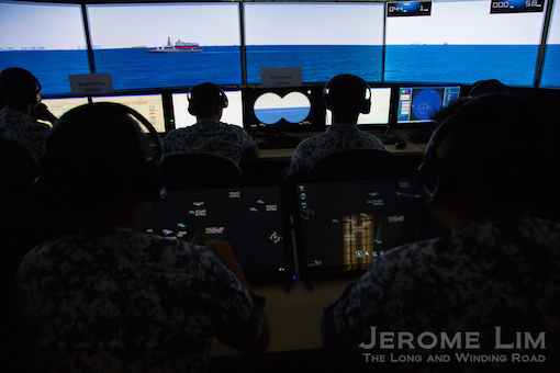A simulation of the view from the command cluster in the ICC.