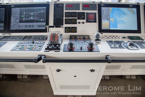 The navigation console in the ICC.