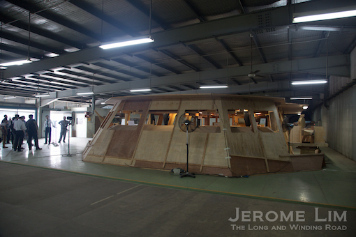 A full-scale mock-up of the ICC at the shipyard.