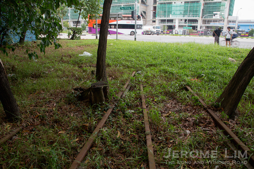 Tracks close to where the crossing at Tanjong Kling Road would have been.