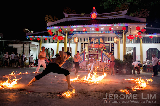 Part of the festival rituals at the temple.