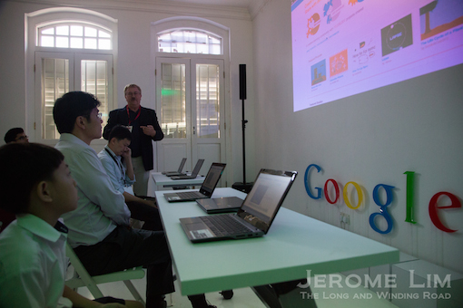 The Google Shophouse will also see another initiative, the Coding Camp for students on show.