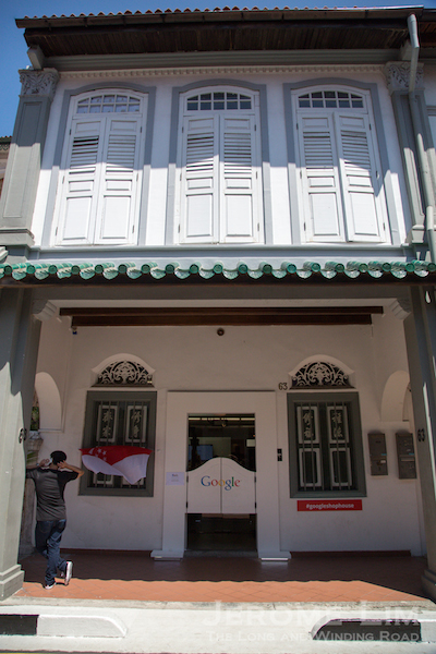 The Google Shophouse at 63 Spottiswoode Park Road.