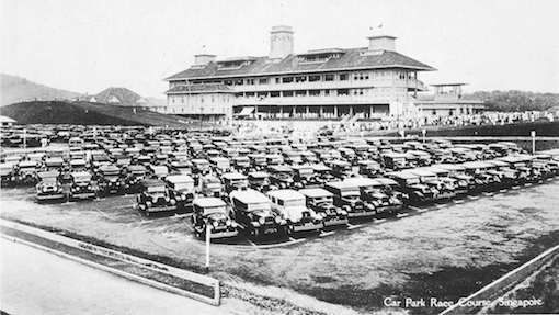 A post card a newly built new Turf Club in the 1930s.