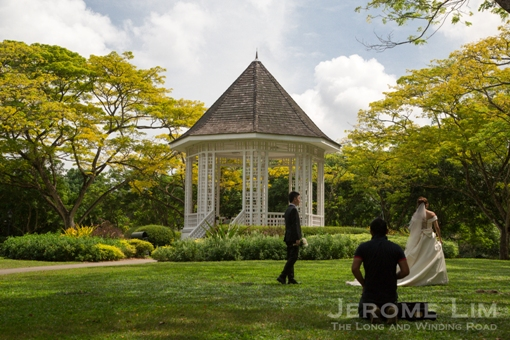 The Bandstand is a popular spot for wedding photography.