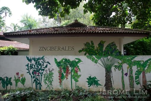 A ginger plant inspired mural at the Ginger Garden.
