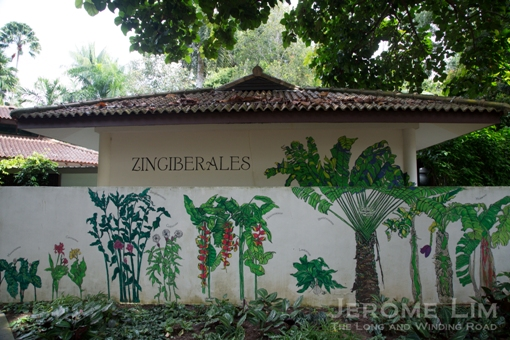 A ginger plant inspired mural at the Ginger Garden.