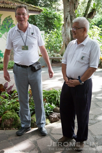 SBG Director Dr Nigel Taylor with National Orchid Garden nursery manager David Lim.