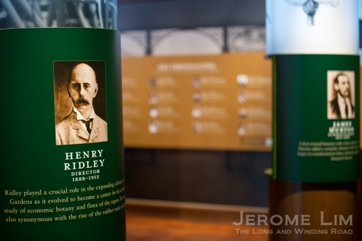 Henry Ridley and his work on rubber is remembered in the SBG Heritage Centre.