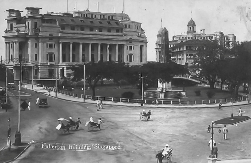 Another view of Empress Place, with the Fullerton Building (completed 1928) already constructed.