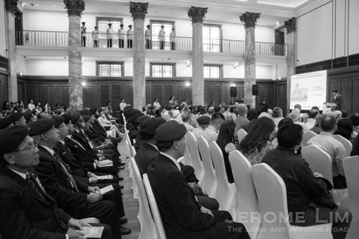 City Hall Chamber, during the commemoration of the 70th Anniversary of the end of the war.