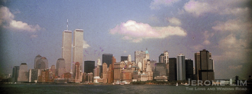 Lower Manhattan in 1989 with the Twin Towers which were brought down by two aircraft on September 11 2001.