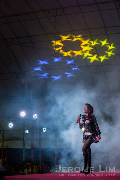 A getai performance at Woodlands.