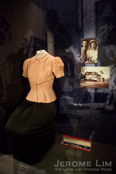 The clothes worn by war heroine Elizabeth Choy when she was held by the Kempeitai.