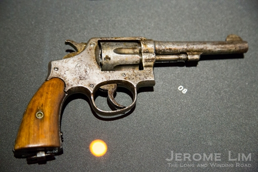 A revolver seized during the tumultuous 1950s.
