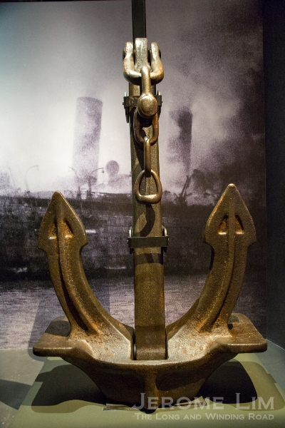 Anchor from the RMS Empress of Asia troopship, which was bombed and sunk.