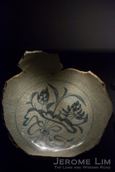 14th Century Chinese porcelain unearthed during an archaeological dig.