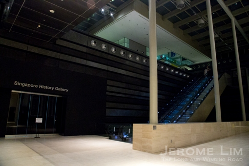 The entrance to the new Singapore History Gallery on Level 1.