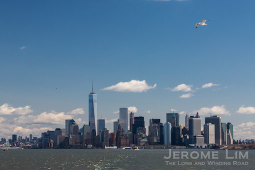 Lower Manhattan today with One World Trade Center standing tall.