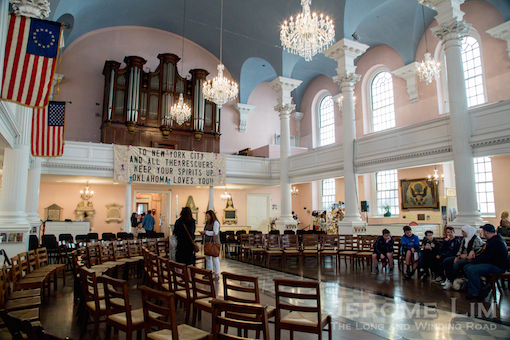 The interior of St. Paul's.