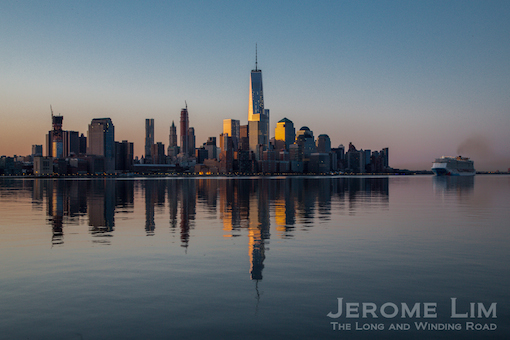The sun rises on a new Manhattan skyline.