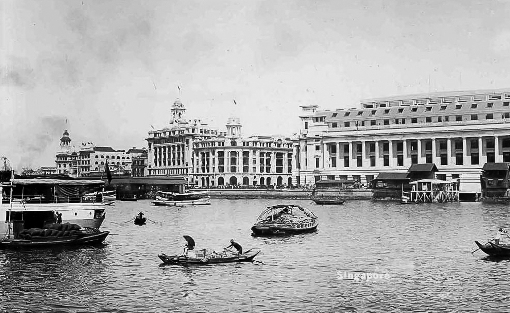 The waterfront in the late 1920s with Johnston's Pier.