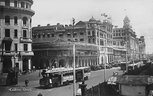 Collyer Quay in the 1920s.