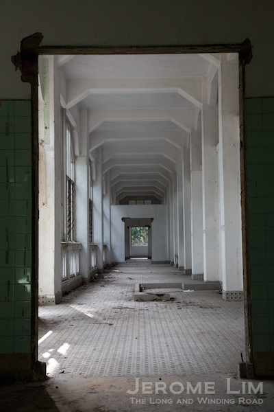 A corridor on the second level of Block 24.