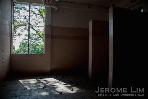 The bathroom inside the women's ward.