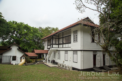 The rear of the house - with the kitchen and servants quarters arranged in typical fashion behind the main house.