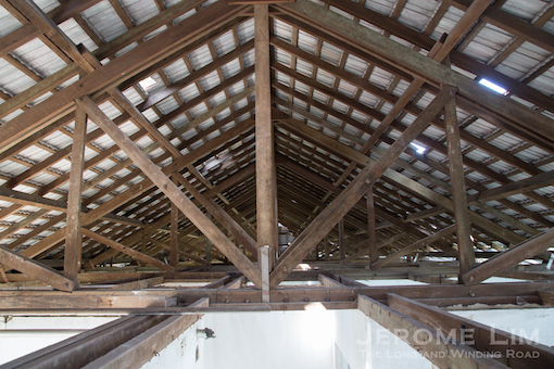 The roof structure of Block 161.