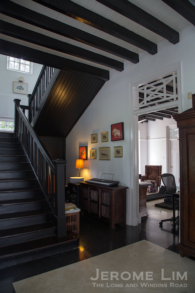 From the porch one steps into an entrance hall and the stairway - again typical of an daly 'Black and White' house design.