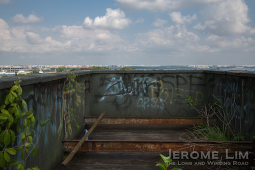A view towards the Johor Strait from the roof of Block 161.