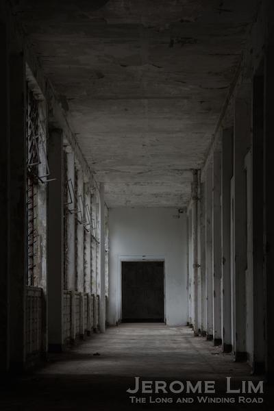 A corridor into the past - a corridor along Block 161 as seen from Block 37.