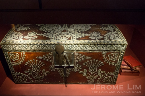 A intricately decorate trunk from Spain.